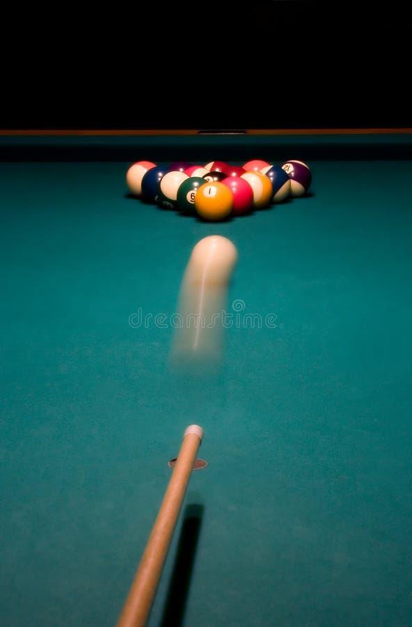 Shoot. Break racked pool balls royalty free stock photography