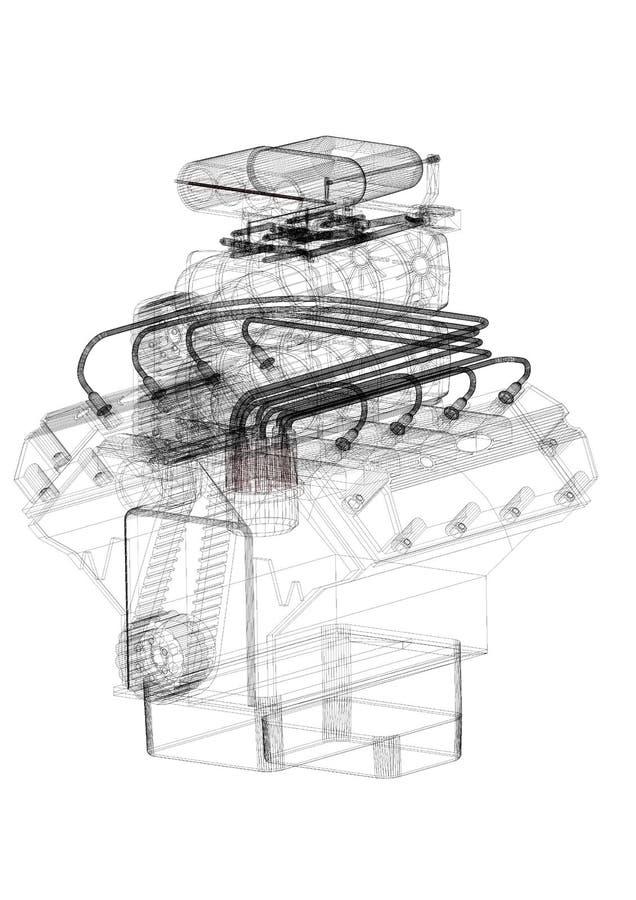 Car engine architect blueprint isolated stock illustration download car engine architect blueprint isolated stock illustration illustration of construction graphic malvernweather Choice Image