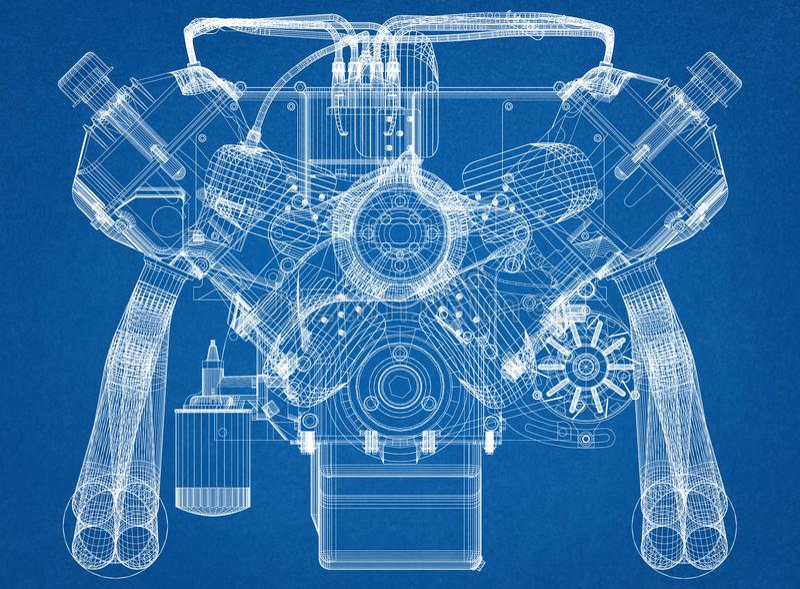 Car engine design architect blueprint stock illustration download car engine design architect blueprint stock illustration illustration of concepts engine 119566863 malvernweather Choice Image