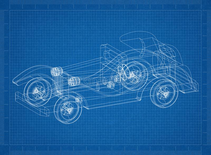 Classic old car 3d blueprint stock illustration illustration of download classic old car 3d blueprint stock illustration illustration of model line 113061978 malvernweather Choice Image