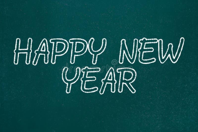 Happy New Year. Chalkboard Sketch Background stock illustration