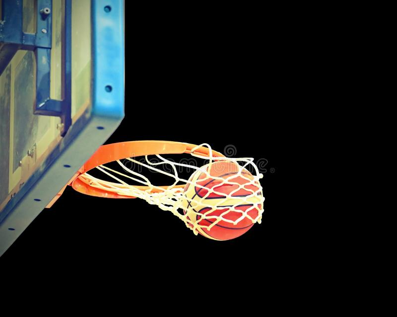 Shoot hoops after the shooting magic royalty free stock photo
