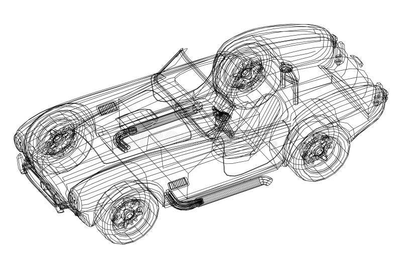 Old car 3d blueprint stock illustration illustration of architect download old car 3d blueprint stock illustration illustration of architect 113064450 malvernweather Choice Image