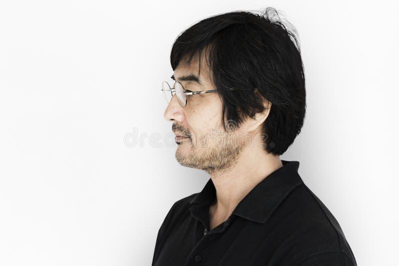 Shoot Race Man för studiofolkmodell man royaltyfri foto