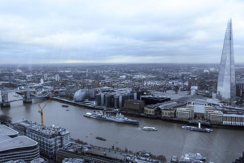 London`s skyline along the river stock image