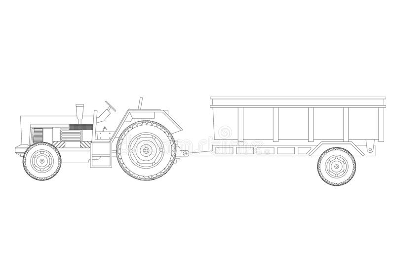 Tractor with trailer blueprint isolated stock illustration download tractor with trailer blueprint isolated stock illustration illustration of industrial industry malvernweather Gallery