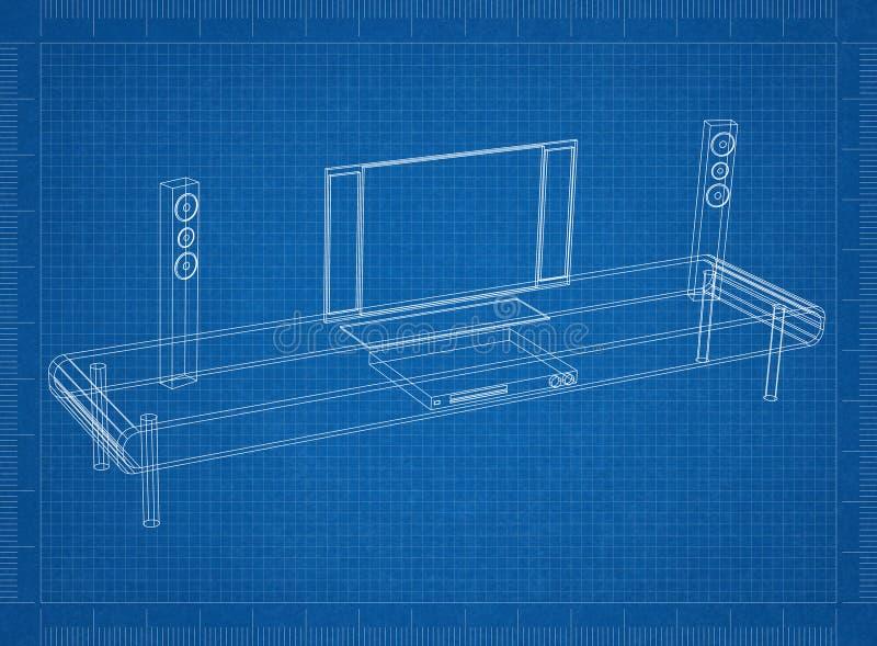 Tv and furniture blueprint stock illustration illustration of download tv and furniture blueprint stock illustration illustration of background 113064940 malvernweather Images