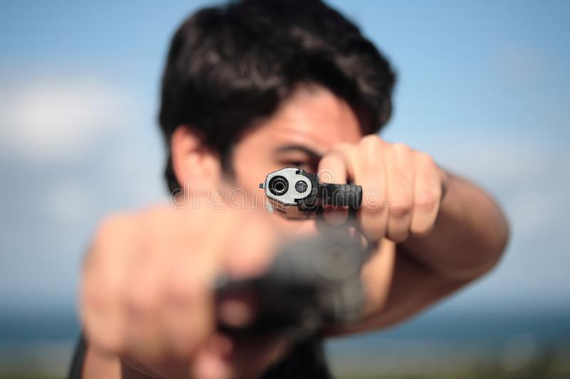 Download Shooter stock photo. Image of pointing, individual, outlaw - 3459968