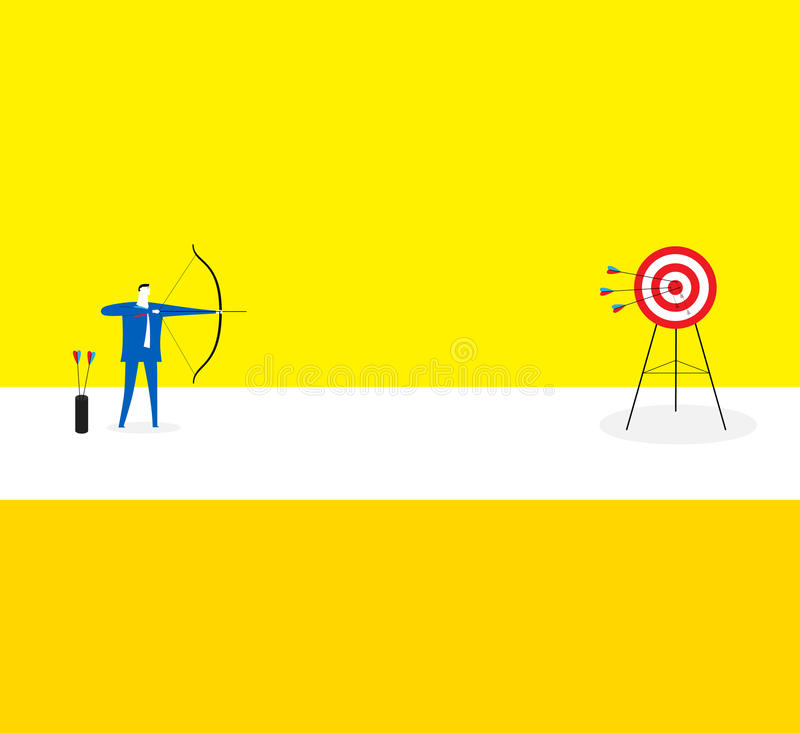 The shooter. / A business man hits the target accurately stock illustration