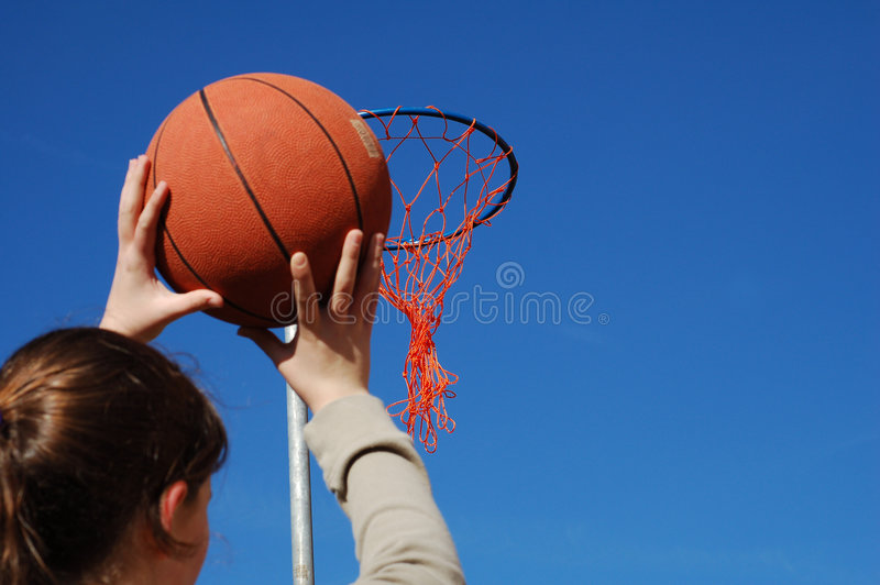 Download Shooting A Basket Royalty Free Stock Image - Image: 649366