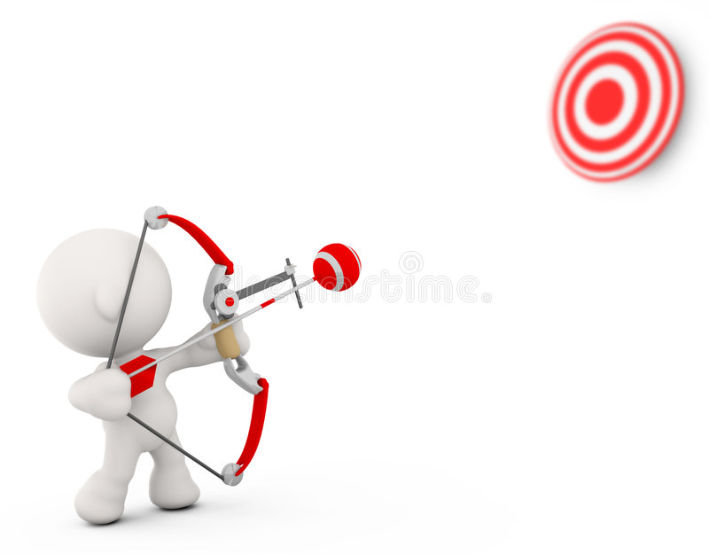 Download Shooting bow and arrow stock illustration. Image of abstract - 7303988
