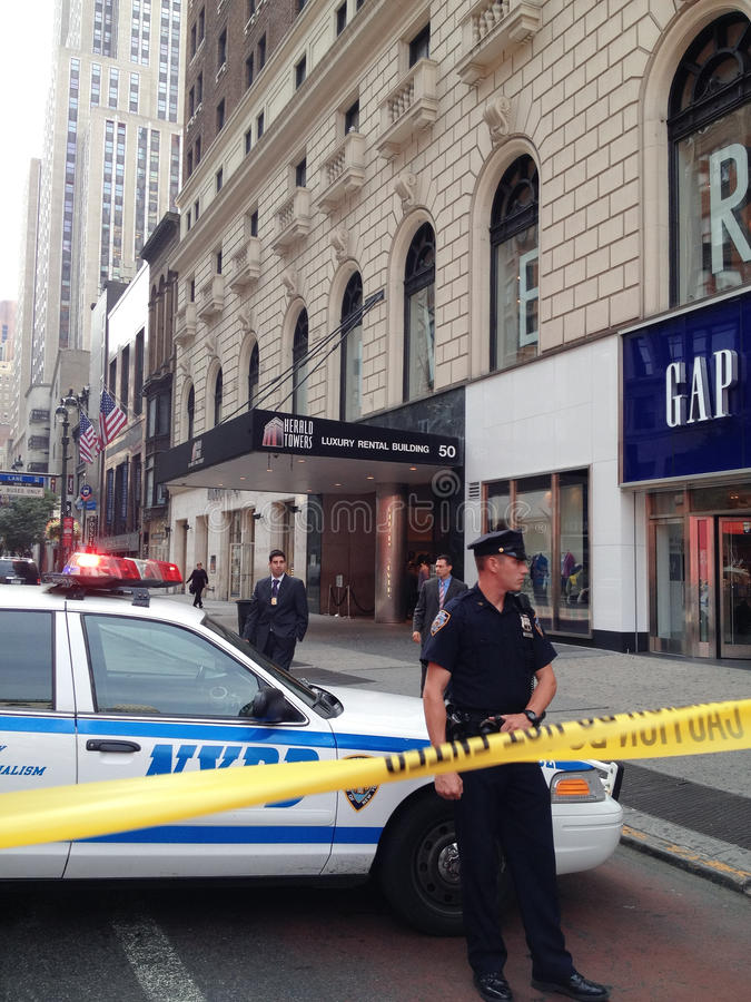Shooting de New York City en la 34ta calle imagen de archivo libre de regalías
