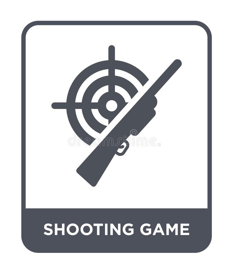 Shooting game icon in trendy design style. shooting game icon isolated on white background. shooting game vector icon simple and. Modern flat symbol for web royalty free illustration