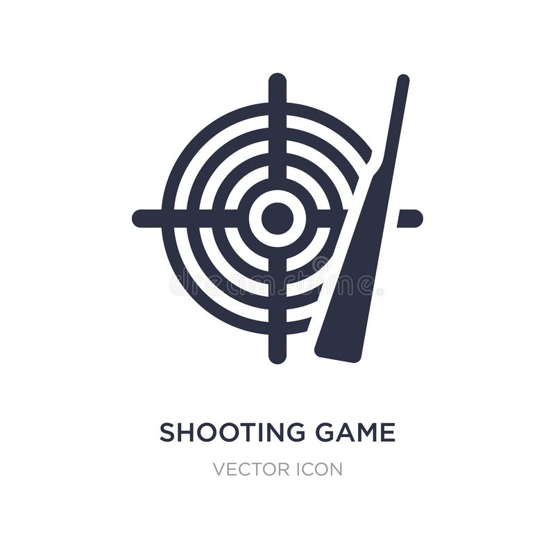 Shooting game icon on white background. Simple element illustration from Entertainment and arcade concept. Shooting game sign icon symbol design royalty free illustration