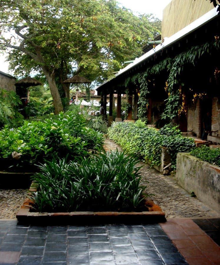 Gardens of the Casa Santo Domingo hotel located in Antigua Guatemala. Shooting in the gardens of the Casa Santo Domingo hotel located in Antigua Guatemala stock photos