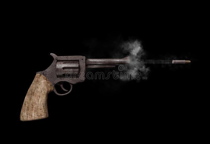 Shooting gun royalty free illustration