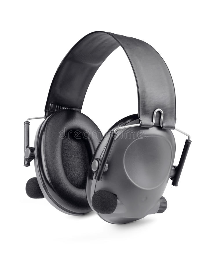 Shooting headset stock images