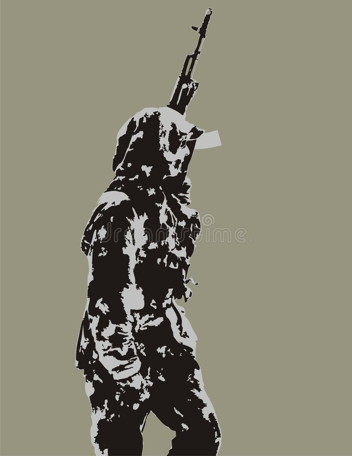 Download Shooting man stock vector. Illustration of kidnapper, military - 8175077
