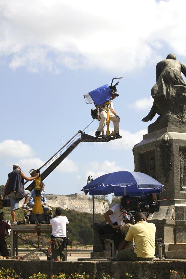 Cameraman making movies editorial stock photo. Image of