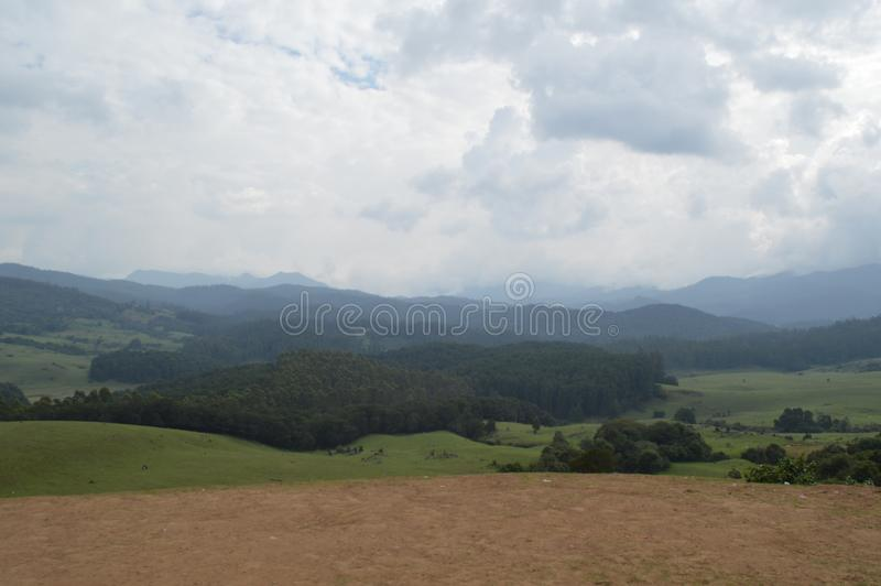 Shooting point, Ooty,India. Shooting point view, Ooty, India royalty free stock photos