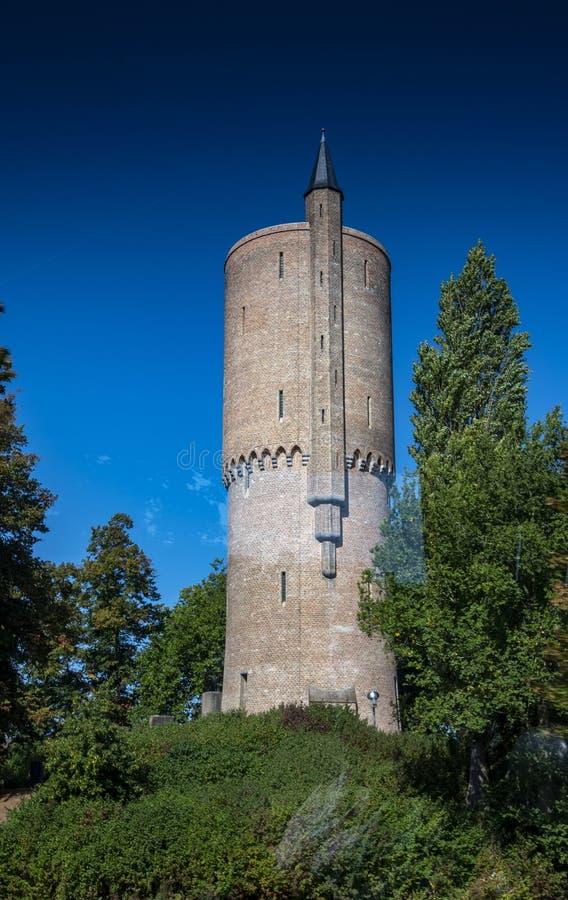 Shooting Range Tower Schietbaan Bruges stock foto's