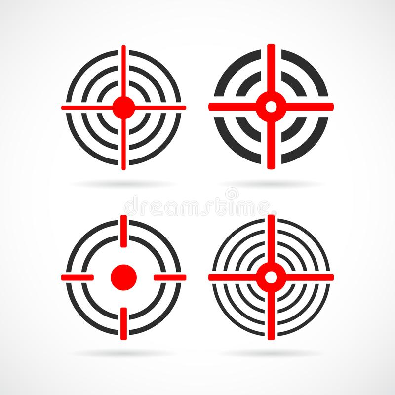 Shooting sight target vector icon stock illustration