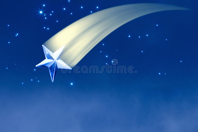 Download Shooting star stock photo. Image of milky, blue, night - 10127992