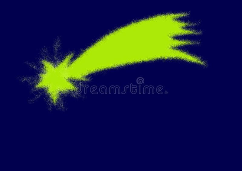 Artistic Shooting Star On A Blue Background Royalty Free Stock Photos