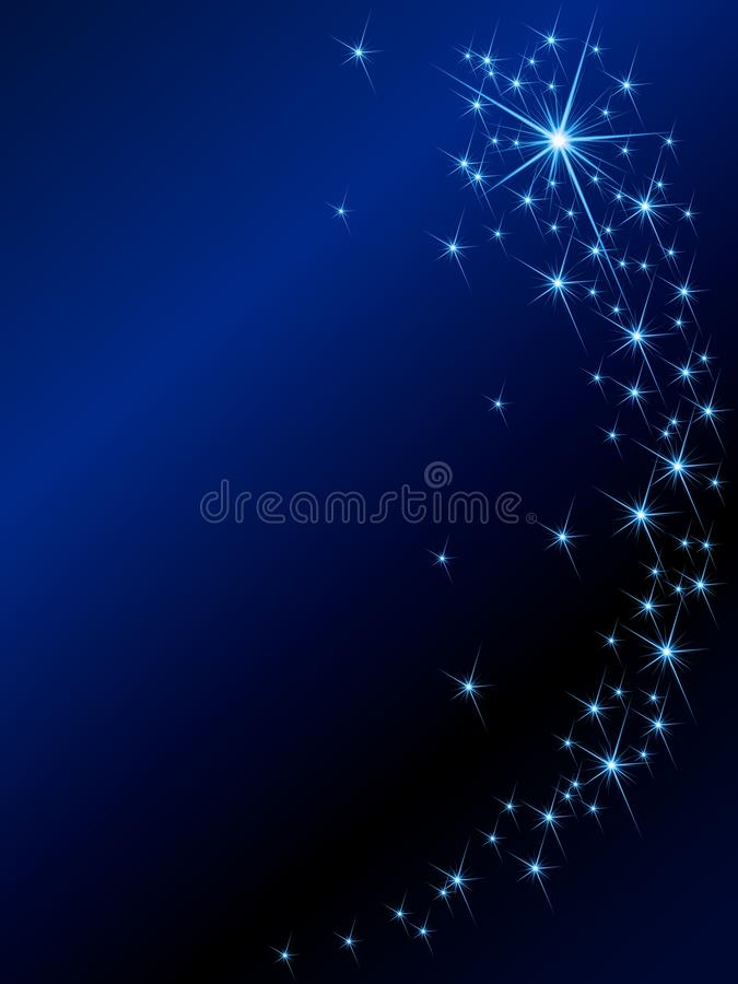 Shooting star background. Background with magical glittering lights. Graphics are grouped and in several layers for easy editing. The file can be scaled to any vector illustration