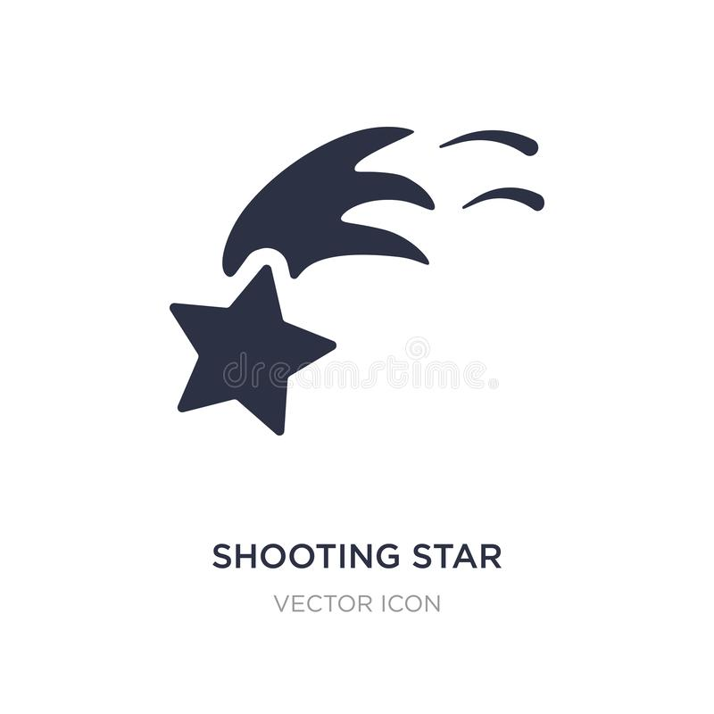 shooting star icon on white background. Simple element illustration from Astronomy concept royalty free illustration