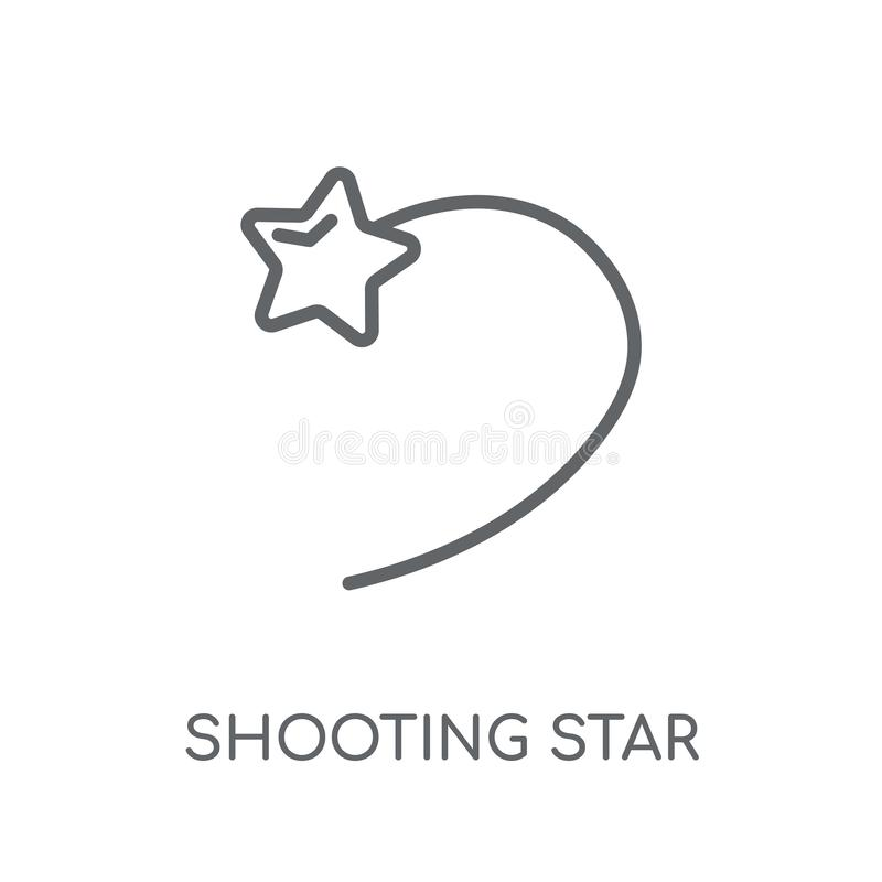 Shooting star linear icon. Modern outline Shooting star logo con. Cept on white background from ASTRONOMY collection. Suitable for use on web apps, mobile apps vector illustration