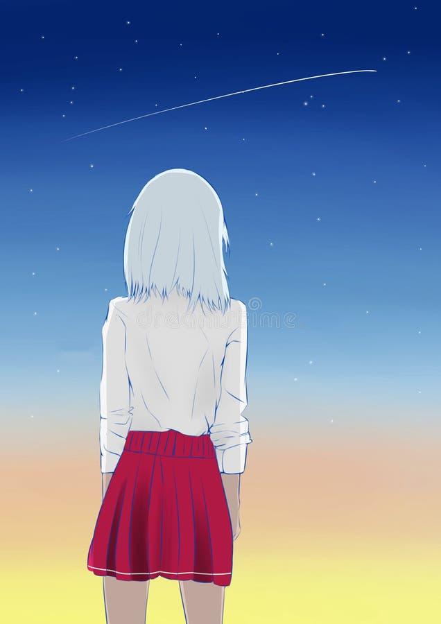 Shooting star in the sky !. Shooting star in the sky! Beautiful space vector illustration