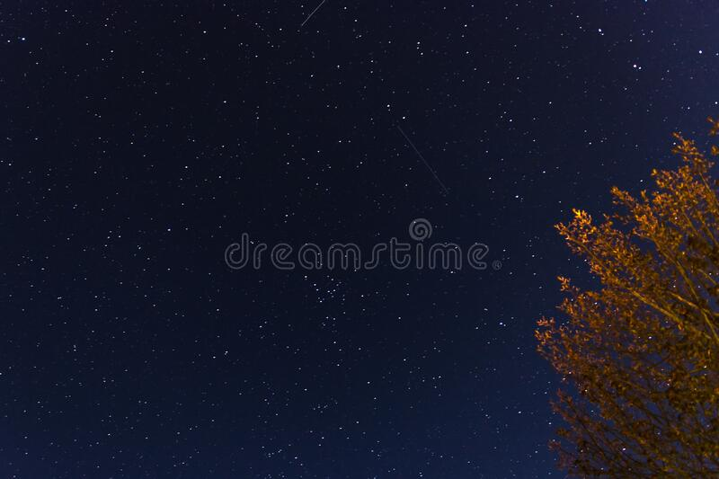 Shooting star in the sky royalty free stock image