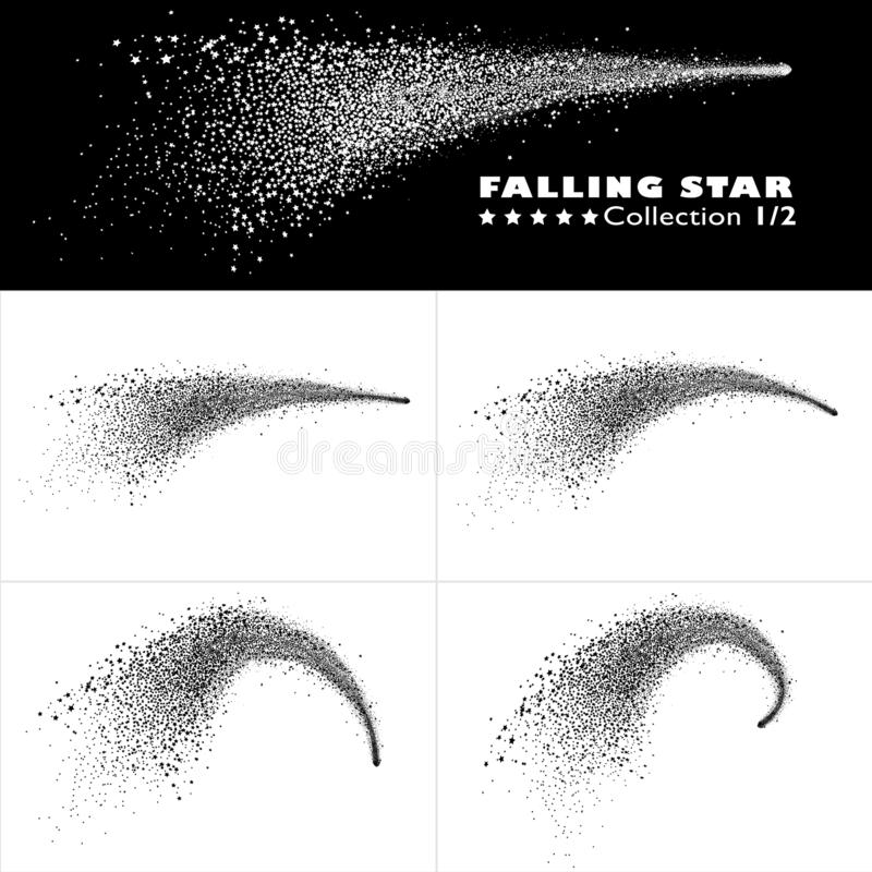 Free Shooting Star Trail Vector Collection 1 - Falling Star Royalty Free Stock Photos - 130782988