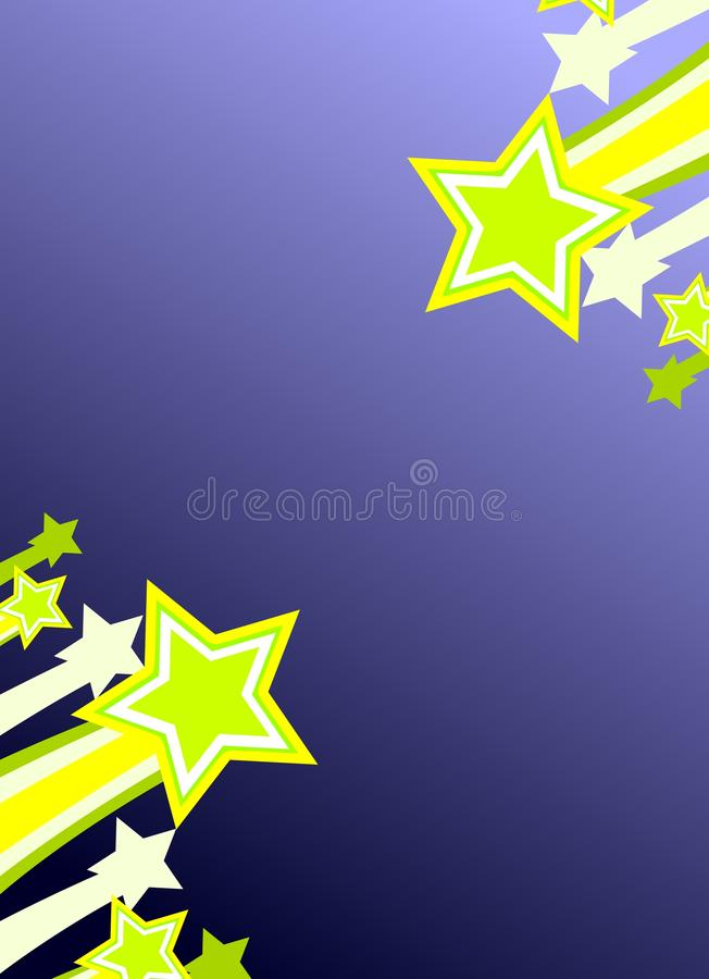 colorful Shooting stars background royalty free stock images
