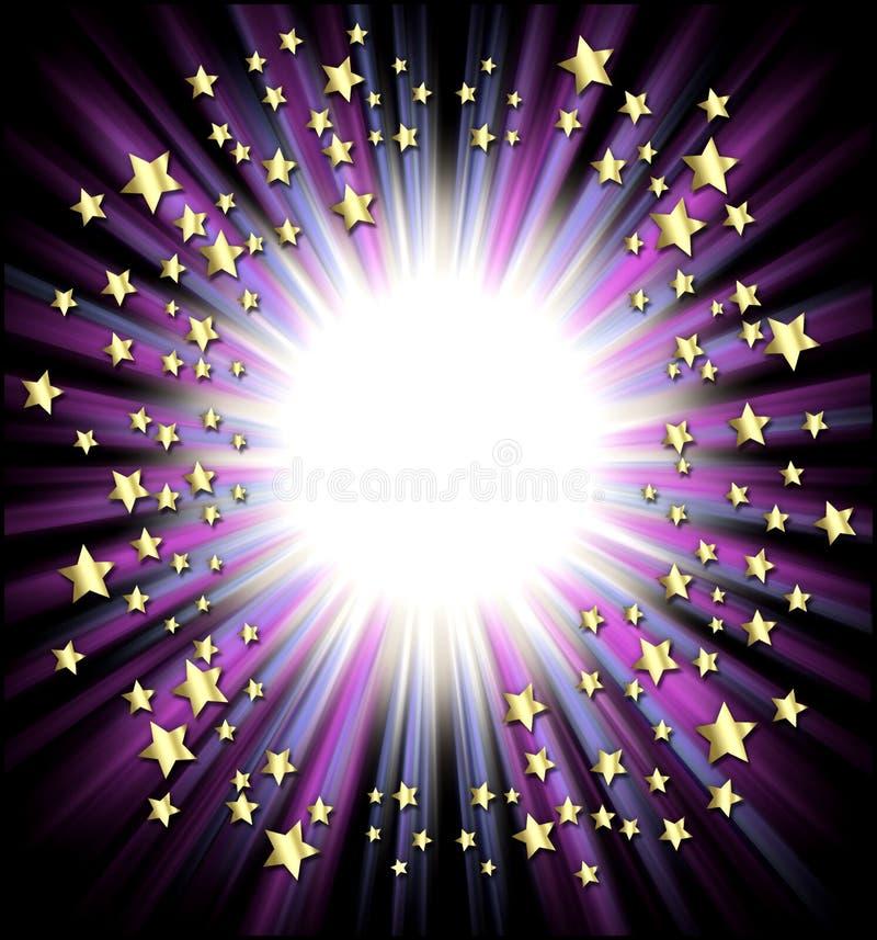 Shooting stars frame vector illustration