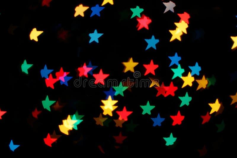 Shooting Stars het gloeien lichten stock foto