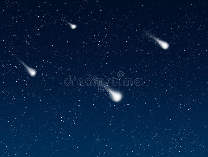 Download Shooting Stars In Night Sky Royalty Free Stock Images - Image: 12083239