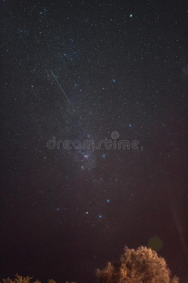 Shooting stars and Wish for it. royalty free stock photography