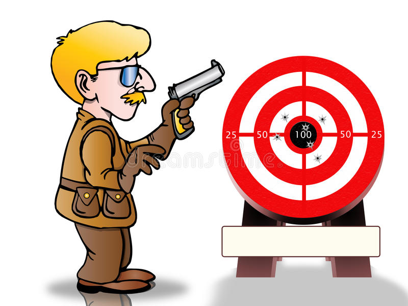 Shooting target vector illustration