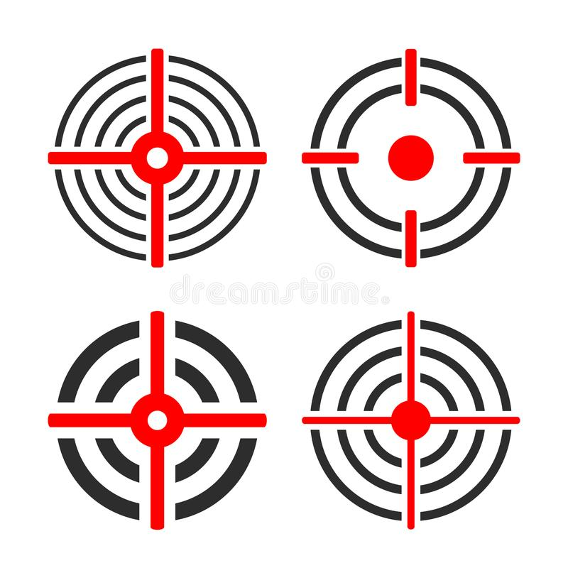 Shooting target circles vector icon royalty free illustration