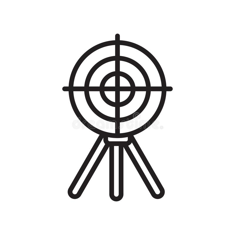Shooting target icon vector sign and symbol isolated on white background, Shooting target logo concept, outline symbol, linear vector illustration