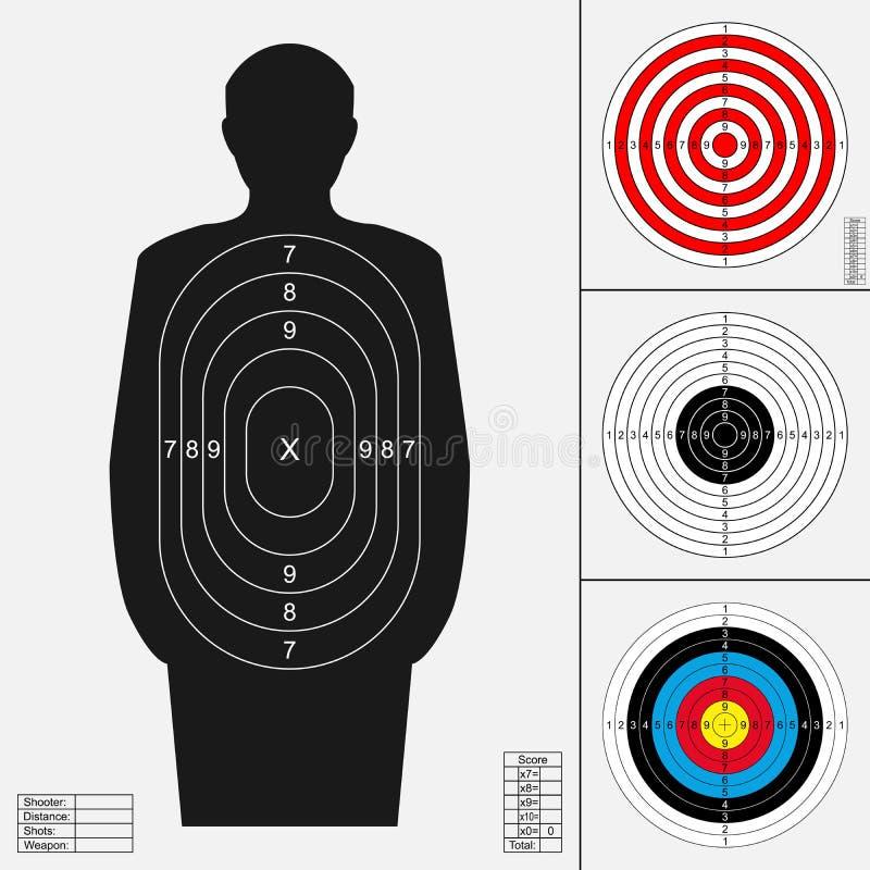 Shooting target set. royalty free illustration