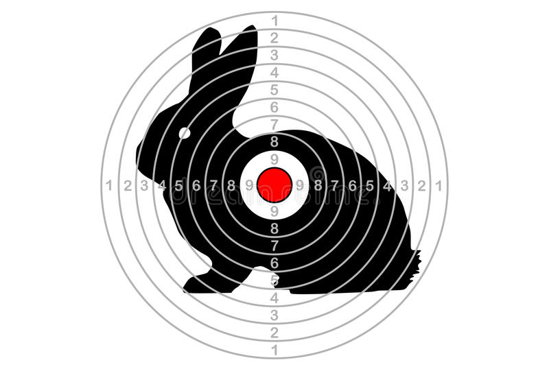 Download The Shooting Target Vector With Hare Stock Vector - Image: 83722600