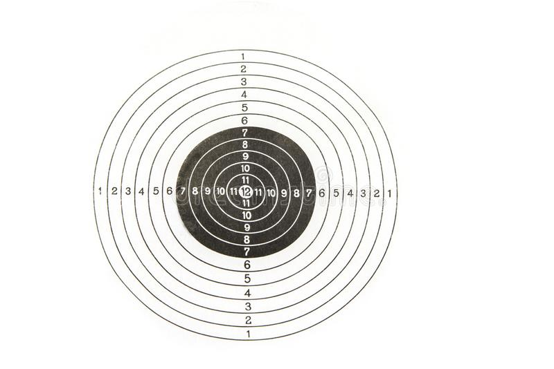 Shooting target on a white background. Success concept.  stock photos