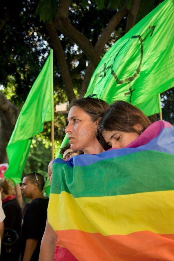 Shooting in Tel Aviv gay bar royalty free stock images