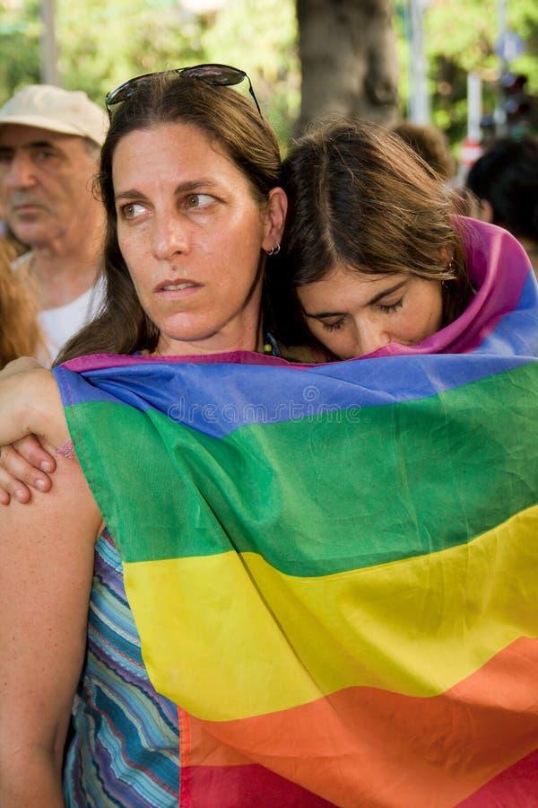 Shooting in Tel Aviv gay bar royalty free stock photo