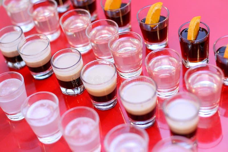 Shoots of alcohol stock photo