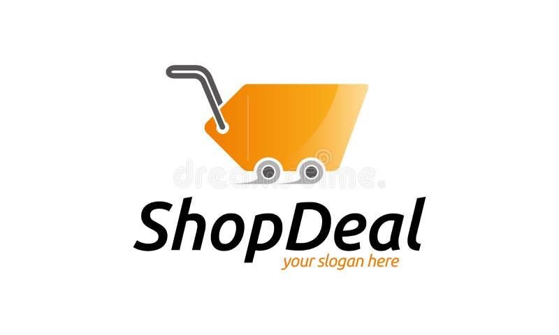 Shop-Abkommen-Logo lizenzfreie abbildung