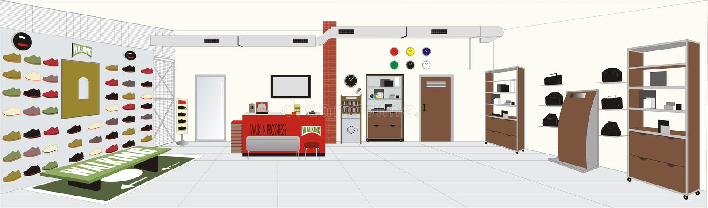 Shop ambient vector illustration